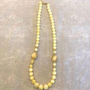 Napier vintage marble-like plastic bead necklace